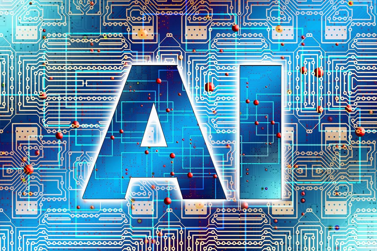 AI logo on circuit board